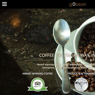 Kelowna WordPress web design and custom themes - Giobean Coffee