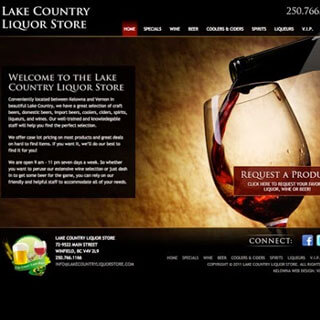 Kelowna WordPress web design and custom themes - Lake Country Liquor Store