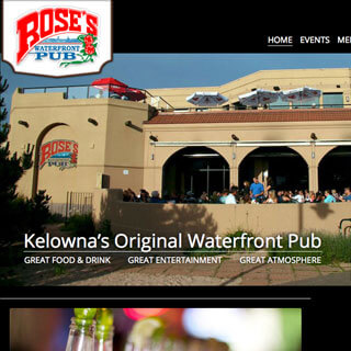 Kelowna WordPress web design and custom themes - Roses Waterfront Pub